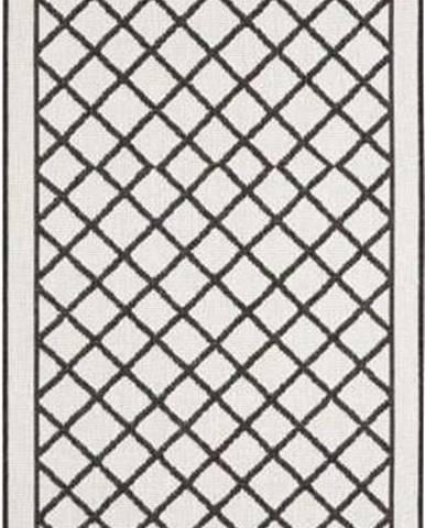 Černo-krémový venkovní koberec Bougari Sydney, 80 x 250 cm