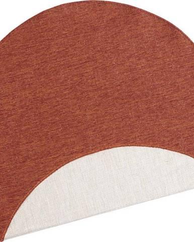 Cihlově červený venkovní koberec Bougari Miami, ø 140 cm