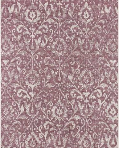 Fialovo-béžový venkovní koberec Bougari Hatta, 140 x 200 cm