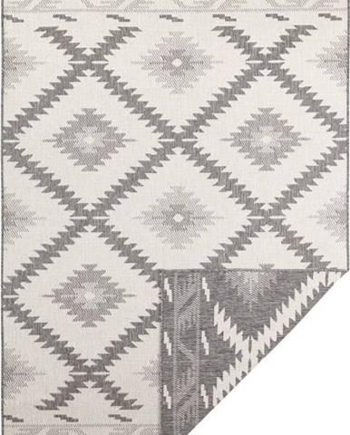 Šedo-krémový venkovní koberec Bougari Malibu, 230 x 160 cm