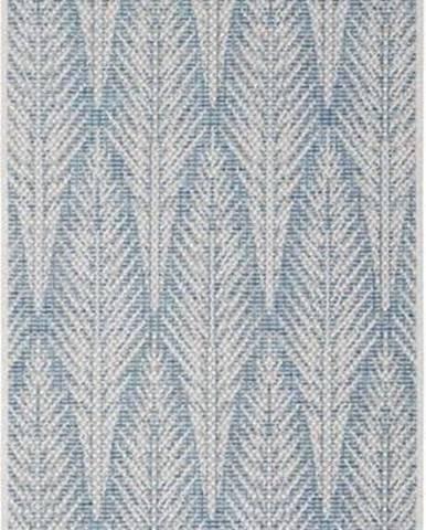 Šedomodrý venkovní koberec Bougari Pella, 70 x 200 cm