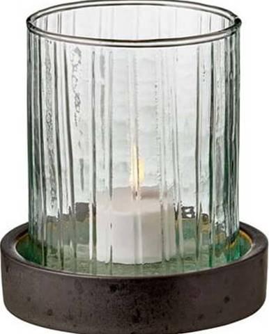 Zelená LED svíčka Bitz Hurricane,výška11 cm