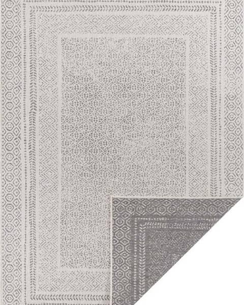 Ragami Šedo-bílý venkovní koberec Ragami Berlin, 80 x 150 cm