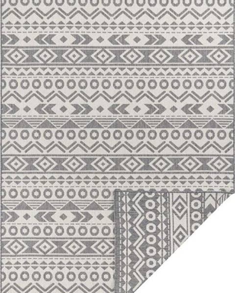 Ragami Šedo-bílý venkovní koberec Ragami Roma, 80 x 150 cm
