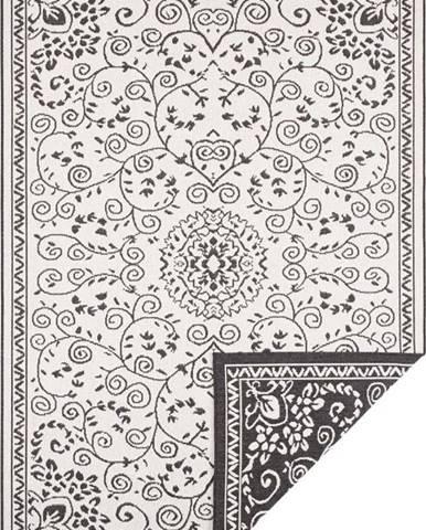 Černo-krémový venkovní koberec Bougari Leyte, 160 x 230 cm