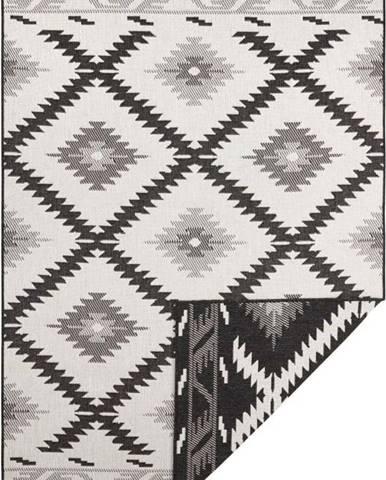 Černo-krémový venkovní koberec Bougari Malibu, 80 x 150 cm