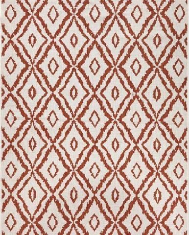 Červeno-bílý venkovní koberec Bougari Rio, 120x170 cm