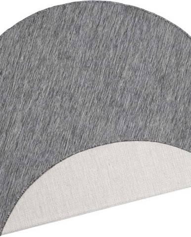Šedý venkovní koberec Bougari Miami, ø 140 cm