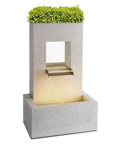 Blumfeldt Bloomingstone, fontána, zahradní fontána, okrasná fontána, 20 W, čerpadlo, zinek, LED