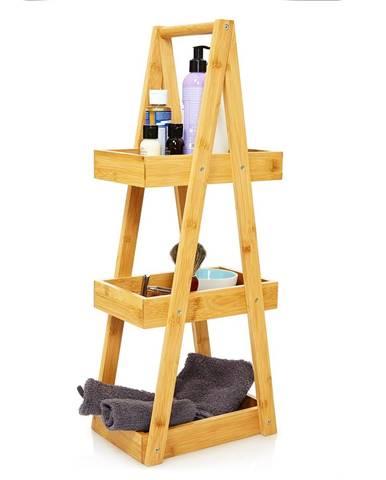 Blumfeldt Premium, regál do sprchy, 26 x 66 x 18 cm, odolný vůči vodě, bambus