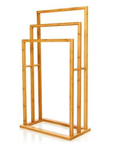 Blumfeldt Stojan na utěrky, 3 tyče, 42x80x24cm, víceúrovňový vzhled, bambus