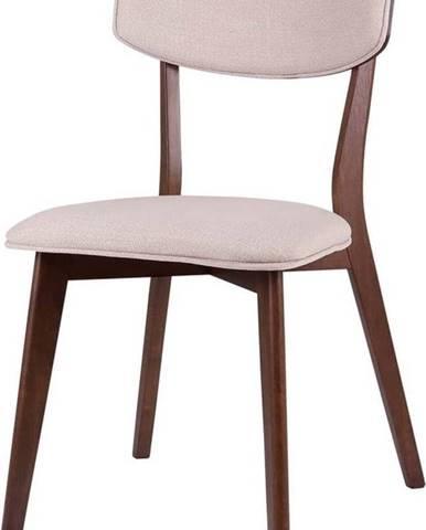 Sada 2 jídelních židlí s tmavě hnědým podnožím sømcasa Anais