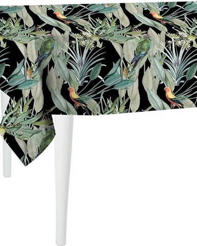 Černý ubrus Mike & Co. NEW YORK Jungle Birds,300x140cm