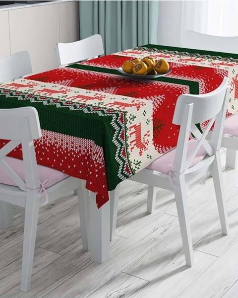 Minimalist Cushion Covers Vánoční ubrus s příměsí bavlny Minimalist Cushion Covers Merry Christmas,140x180cm