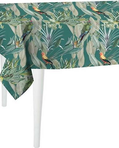 Zelený ubrus Mike & Co. NEW YORK Jungle Birds,180x140cm