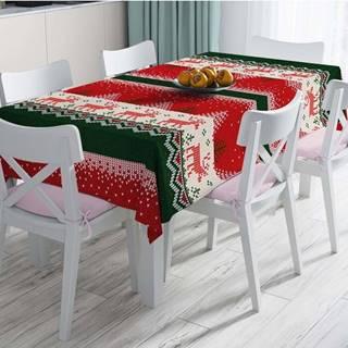 Vánoční ubrus s příměsí bavlny Minimalist Cushion Covers Merry Christmas,140x180cm