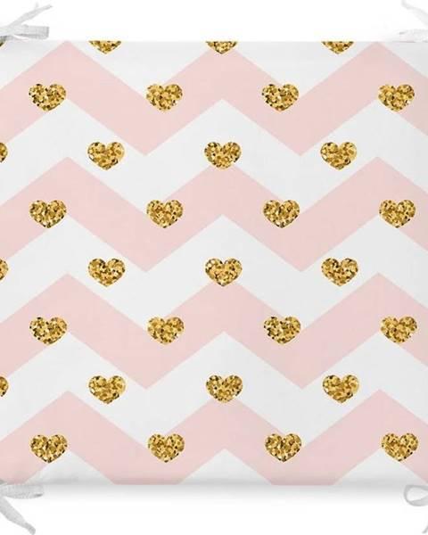 Minimalist Cushion Covers Podsedák s příměsí bavlny Minimalist Cushion Covers Pastel Hearts,42x42cm