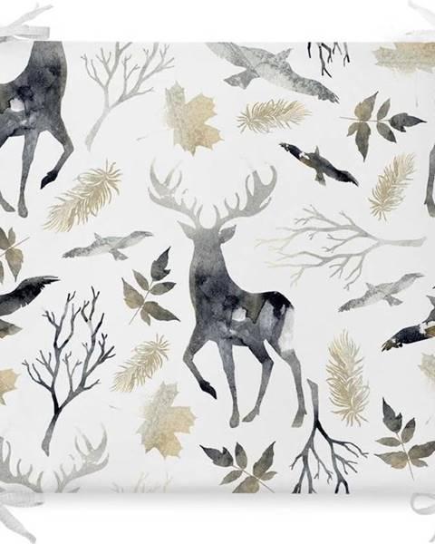 Minimalist Cushion Covers Vánoční podsedák s příměsí bavlny Minimalist Cushion Covers Dark Forest,42x42cm