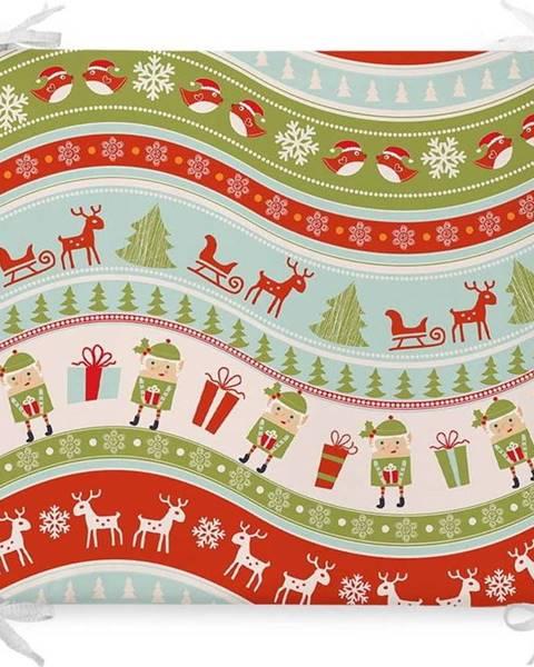 Minimalist Cushion Covers Vánoční podsedák s příměsí bavlny Minimalist Cushion Covers Elves,42x42cm