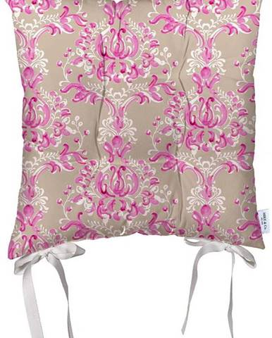Béžovo-růžový podsedák z mikrovlákna Mike & Co. NEW YORK Butterflies,43x43cm