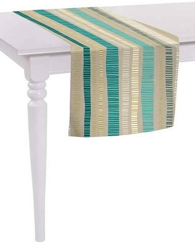 Béžový běhoun na stůl Mike & Co. NEW YORK Jungle Stripes,140x40 cm
