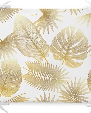 Podsedák s příměsí bavlny Minimalist Cushion Covers Gold Leaf,42x42cm