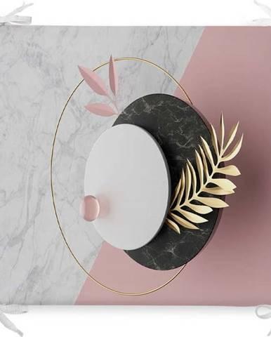 Podsedák s příměsí bavlny Minimalist Cushion Covers Marble,42x42cm