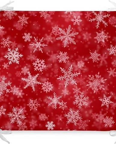 Vánoční podsedák s příměsí bavlny Minimalist Cushion Covers Blizzard,42x42cm
