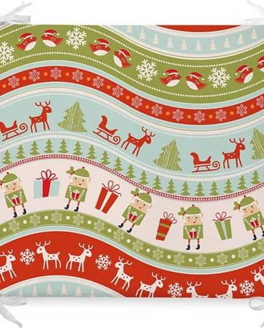 Vánoční podsedák s příměsí bavlny Minimalist Cushion Covers Elves,42x42cm
