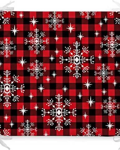 Vánoční podsedák s příměsí bavlny Minimalist Cushion Covers Eve,42x42cm