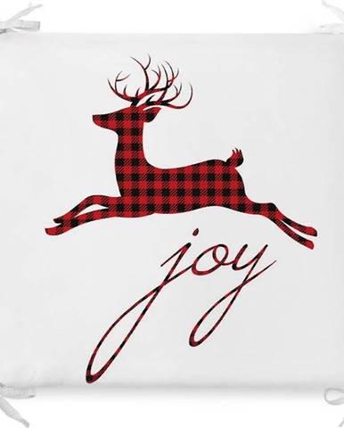 Vánoční podsedák s příměsí bavlny Minimalist Cushion Covers Joy,42x42cm
