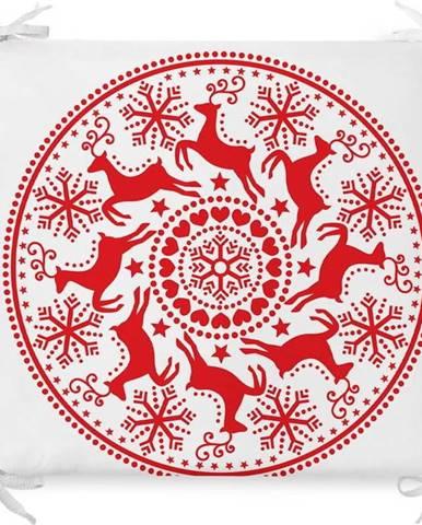 Vánoční podsedák s příměsí bavlny Minimalist Cushion Covers Mandala,42x42cm