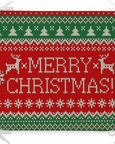 Vánoční podsedák s příměsí bavlny Minimalist Cushion Covers Merry,42x42cm