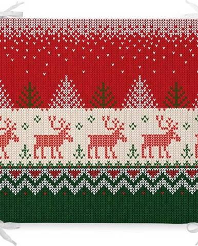 Vánoční podsedák s příměsí bavlny Minimalist Cushion Covers Merry Xmas,42x42cm