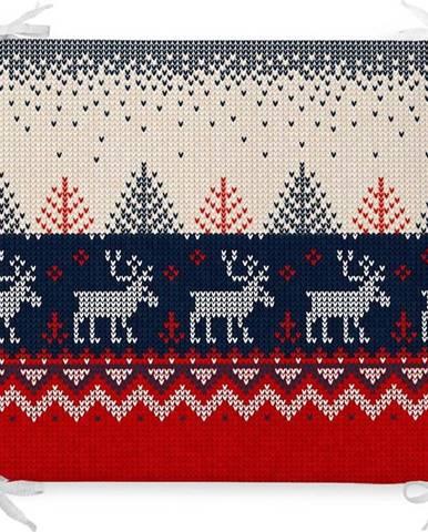 Vánoční podsedák s příměsí bavlny Minimalist Cushion Covers Nordic,42x42cm