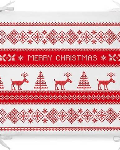 Vánoční podsedák s příměsí bavlny Minimalist Cushion Covers Nordic Knit,42x42cm