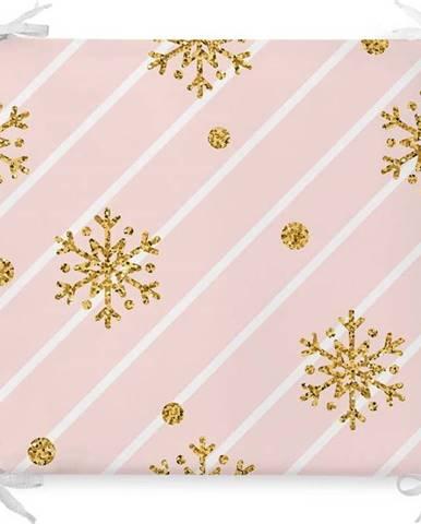 Vánoční podsedák s příměsí bavlny Minimalist Cushion Covers Pastel Ornaments,42x42cm