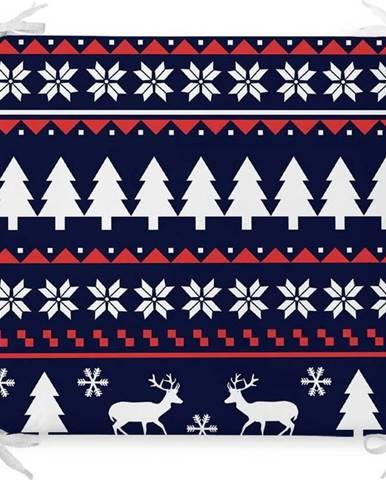Vánoční podsedák s příměsí bavlny Minimalist Cushion Covers Santas Village,42x42cm
