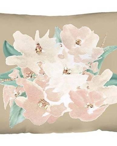 Béžový povlak na polštář Mike & Co. NEW YORK Honey Flower,31x50cm