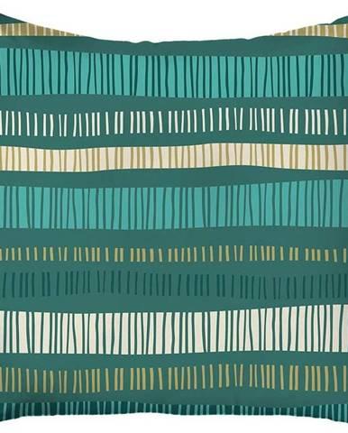 Zelený povlak na polštář Mike & Co. NEW YORK Jungle Stripes,43x43cm