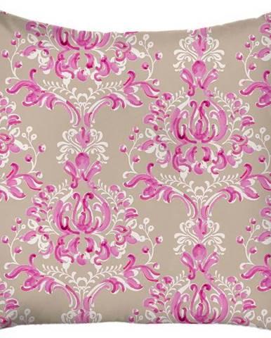 Béžovo-růžový povlak na polštář Mike & Co. NEW YORK Butterflies,43x43 cm