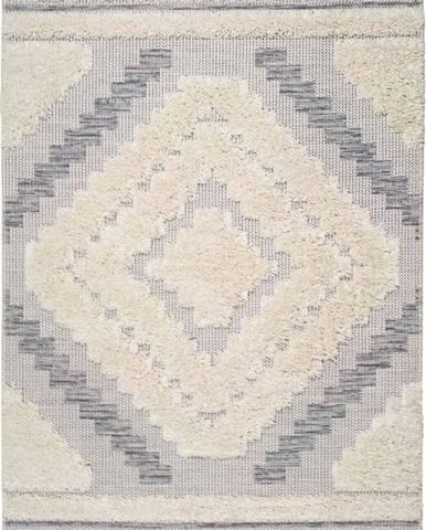 Bílo-šedý koberec Universal Cheroky Blanco, 155 x 230 cm