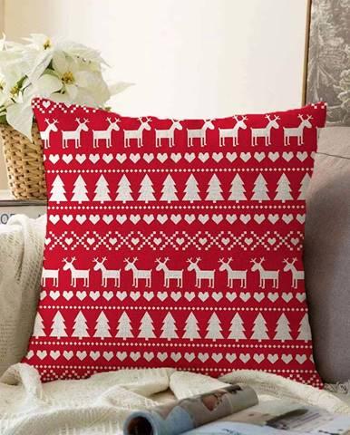 Vánoční žinylkový povlak na polštář Minimalist Cushion Covers Merry Christmas,55x55cm