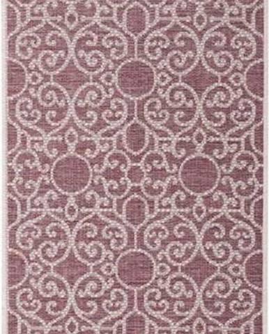 Fialovo-béžový venkovní koberec Bougari Nebo, 70 x 200 cm