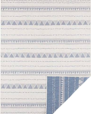 Modro-krémový venkovní koberec Bougari Bahamas, 80 x 150 cm