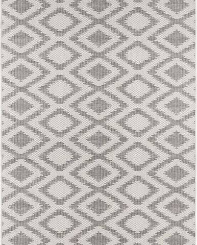 Šedo-krémový venkovní koberec Bougari Isle, 70 x 140 cm