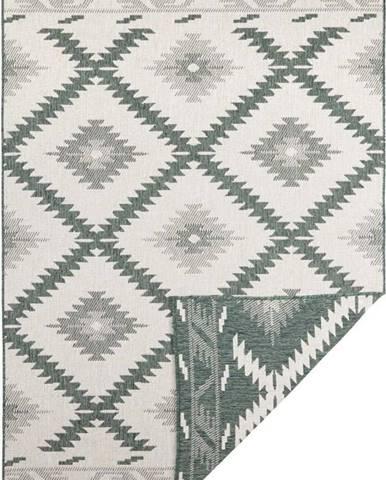 Zeleno-krémový venkovní koberec Bougari Malibu, 170 x 120 cm