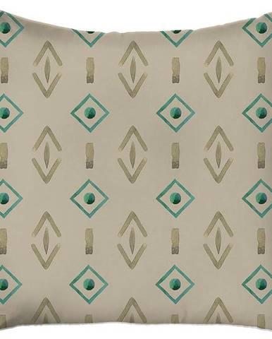 Béžový povlak na polštář Mike & Co. NEW YORK Jungle Symbols,43x43cm
