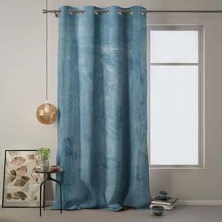 Modrý závěs AmeliaHome Velvet, 140 x 270 cm
