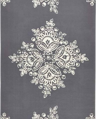 Šedobílý koberec Hanse Home Gloria Blossom, 120x170cm